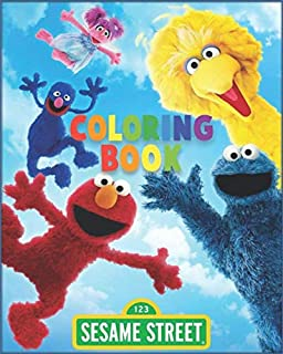 Sesame Street Coloring Book: Sesame Street Characters Coloring Pages for Kids | Unique Illustrations