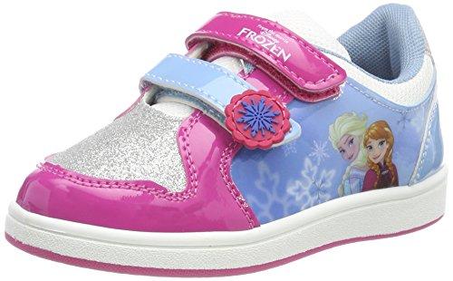 Frozen Girls Kids Skate/Street Low Sneakers, Basket Garçon, P Fuxia Mu Silver M Blue White Silver, 24 EU