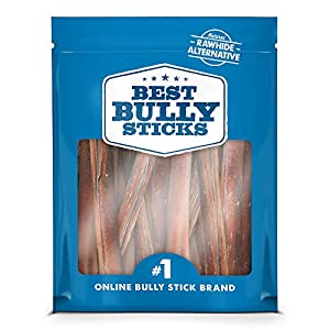 Best Bully Sticks Premium Thick Bully Sticks – All-Natural, Grain-Free, 100% Beef, Single-Ingredient Dog Treat Chew Promotes Dental Health