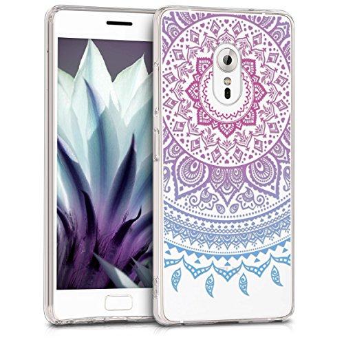 kwmobile Hülle kompatibel mit Lenovo ZUK Z2 Pro - Handyhülle - Handy Hülle Indische Sonne Blau Pink Transparent