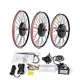 FYYEUR Kit de conversión con conversión de Bicicleta eléctrica Trasera Delantera 48V 1000W Kit de Bicicleta del Motor de la Rueda para 20 24 26 27.5 28 29 Pulgadas 700C Rueda e-Bike