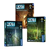 EXIT: The Game 3-Pack Escape Room Bundle | Season 1 | Abandoned Cabin | Pharaoh's Tomb | Secret Lab | Family-Friendly, Cooperative Game | 1 to 4 Players, Ages 12+ | Kennerspiel Des Jahres Award Winner