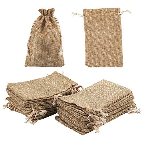Bolsa de joyería cordón bolsas–24piezas de arpillera bolsas de regalo para joyería, boda, artes y oficios, regalos, 7x 4,5pulgadas