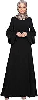 Women Kaftan Islamic Muslim Loose Plain Robe for Ramadan Abaya Islamic Kaftan Dubai