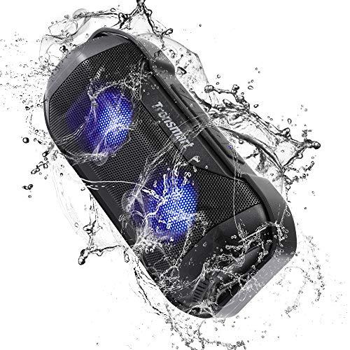 Cassa Altoparlante Bluetooth Portatile, Tronsmart Bluetooth 4.2 Speaker del LED, 12 ore di Autonomia, IPX56 Impermeabile, Suono Stereo, Microfono Integrato per Apple iOS e Dispositivi Android-Milool