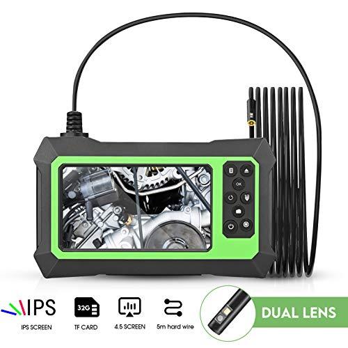 4YANG Endoscopio industrial 1080P Cámara de endoscopio HD de doble lente Endoscopio...