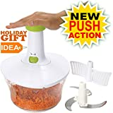 Brieftons Express Food Chopper: Large 6.8-Cup, Quick & Powerful Manual Hand Held Chopper/Mixer to...