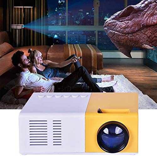 Joojun Mini proyector, proyector retroproyector portátil, PC Multimedia Home Theater Full HD