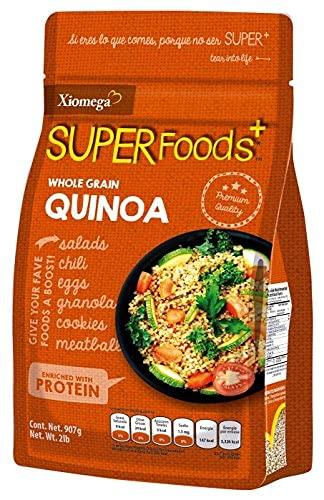 Xiomega Superfoods - Semillas de Quinoa Entera - Ideal para Enriquecer Bebidas y Alimentos - Pouch de 907 Grs