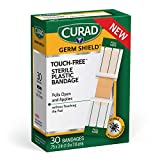 Curad Germ Shield Touch-Free Adhesive...