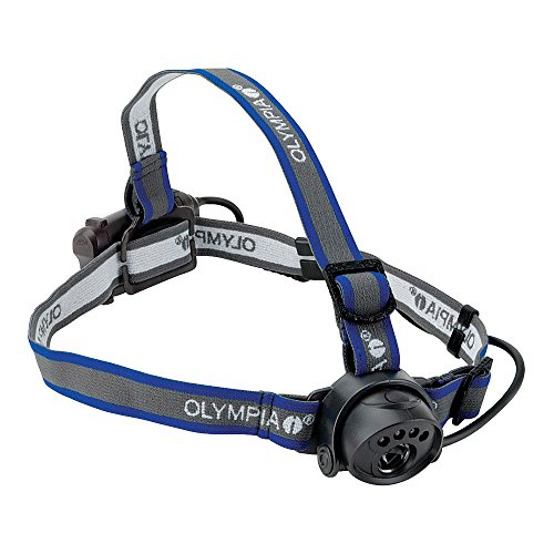 Olympia EX080 Lightweight Water Resistant LED Headlamp, 80 Lumens