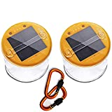Lucid 2 Pack Inflatable Solar Light Reliable Camping and Emergency Inflatable Solar Lantern with Bonus Carabiner Clips