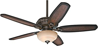 Hunter Indoor Ceiling Fan with light and pull chain control - Kingsbridge 54 inch, Roman Bronze, 54140