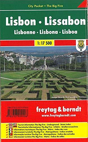 Lissabon, City Pocket + The Big Five: 1:17500 (freytag & berndt Stadtpläne)