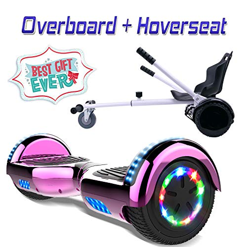 COLORWAY Hoverboard Overboard Gyropode Bluetooth 6.5 Pouces, Scooter Electrique Moteur 700W, Self-balance Board avec LED, E-Scooter Auto-équilibrage Pour Enfant et Adult+Hoverkart