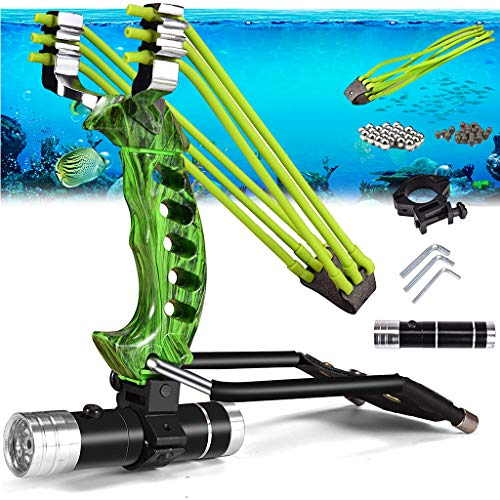 ZH1 Solings de plegamiento Fuerte, Potente Conjunto de Honda de Caza Ajustable, conlings de Pesca con Braces de muñeca Survivenci,Verde