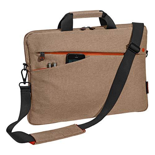 PEDEA Laptoptasche Fashion Notebook-Tasche bis 17,3 Zoll (43,9 cm) Umhängetasche mit Schultergurt, beige