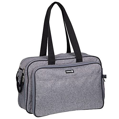 Safety 1st Nap to Go Bag, Borsa Pannolini e Culla Portatile da Viaggio 2 in 1, Colore Black Chic