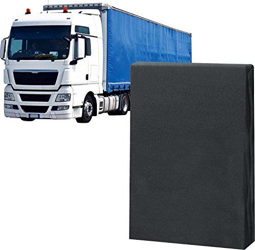 Erwin Müller Spannbettlaken für LKW, Truck Mako-Jersey anthrazit, Größe 60x200 cm - mit Rundumgummi, formstabil, bügelfrei, kuschelweich (weitere Farben, Größen)