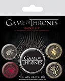 Pyramid International Pin Game of Thrones-Badge Pack Houses, Multicolor, 10 x 12.5 x 1.3 cm