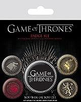 Game of Thrones ゲーム オブ スローンズ ボタン バッジ セット / 缶バッジ