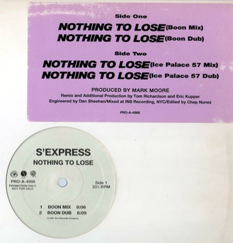 Nothing to lose (Remix) / Vinyl Maxi Single [Vinyl 12'']