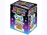Sequin Art 3D, Owl, Sparkling Arts and Crafts 3D Art Kit; Creative Crafts for Adults and Kids