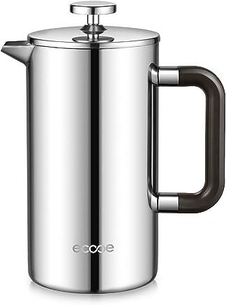 ecooe 1L French Press Kaffe Edelstahl Kaffeebereiter Doppelwandiger Kaffeekanne aus 18/10 rostenfrei Edelstahl preisvergleich bei geschirr-verleih.eu