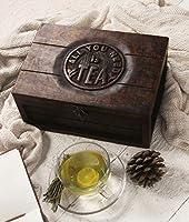 storeindya Indiaethnicity Boîte à thé en Bois avec Arbre de Vie, Motiff, 6 Compartiments et Signet Gratuit, décoration intérieure