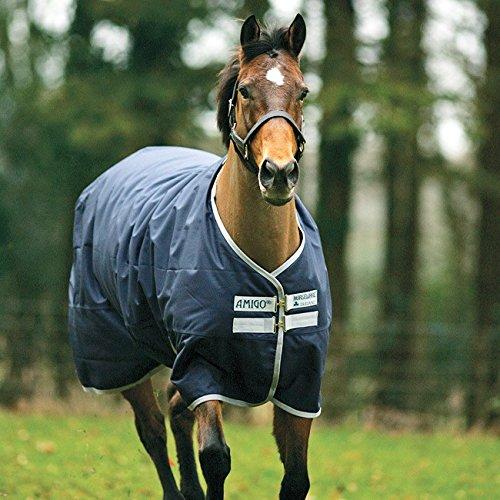 Horseware Amigo Bravo XL 1200 participation Capuche Cou Couverture Lourds 150 g bleu marine//or M-XL