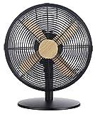 Russell Hobbs RHMDF1201WDB Desk Fan, 45 W, Black with Wood Effect Trim