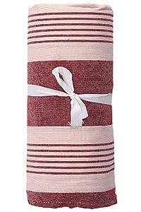 HomeLife - Tela decorativa, funda de sofá de rayas, sábana cubretodo multiusos de algodón, colcha para cama individual [160 x 280 cm] y doble [260 x 280 cm] – Fabricado en Italia