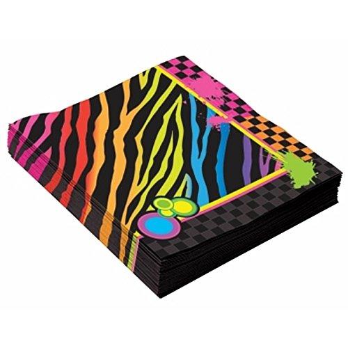 Forum Novelties- Servilletas grandes de los años 80, Multicolor, talla única (Bristol Novelty X77469)