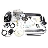 Full Set 80cc Bike Bicycle Motorized 2 Stroke Petrol Gas Motor Engine Kit Set Silver For Motorized Bicycle