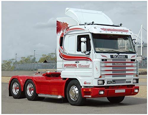 Italeri 3944S 1:24 Scania Streamline 143H 6x2, originalgetreue Nachbildung, Modellbau, Basteln, Hobby, Kleben, Plastikbausatz, Zusammenbauen