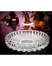 HALO NATION® Glass Ash Tray - Crystal Cut Design & Fine Quality - Diameter 19 cm