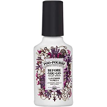 Poo-Pourri Lavender Vanilla Scent Before-You-Go Toilet Spray 4 oz Bottle, 4 Fl Ounce, Oz