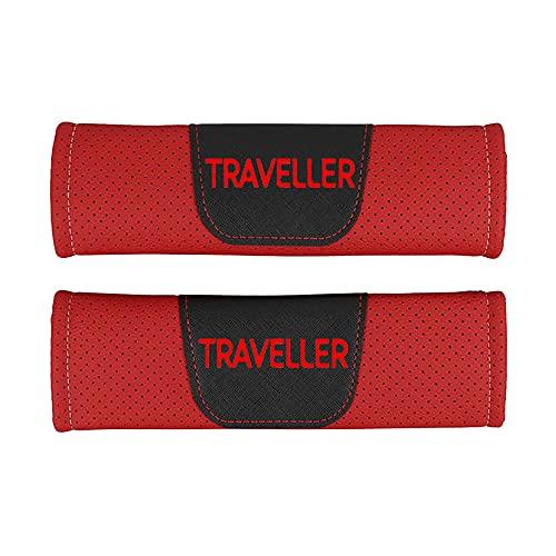 Protector de cojín de hombro para cinturón de seguridad de estilo de coche de cuero Pu,para Peugeot Traveller,accesorios de estilo de coche, 2 piezas