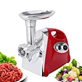 Electric Meat Grinder, Meat Slicer & Sausage Stuffer 2800W with 1 Blade, 4 Knife Meshes Food Grinder for Home Kitchen & Commercial Use, Easy to Clean