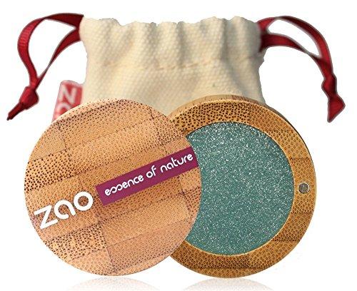 ZAO Pearly Eyeshadow 109 türkis blaugrün Lidschatten schimmernd in nachfüllbarer Bambus-Dose (bio, vegan, Naturkosmetik) 101109