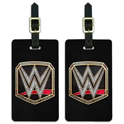 WWE World Heavyweight Champion Title Luggage ID Tags Cards Set of 2