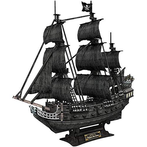 Caribe Negro Perla del Barco Pirata   Corte de Madera del Rompecabezas 3D Adult Model Kit Creativo Valentín Muchacho y Muchacha del cumpleaños/Descompresión Anime de Dibujos Animados