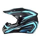 Motesen Casco de motocross pequeño para jóvenes Cascos de motocross a la venta Gafas MTB Pegatinas para cascos de motocicleta Gafas de moto Aprobado por DOT