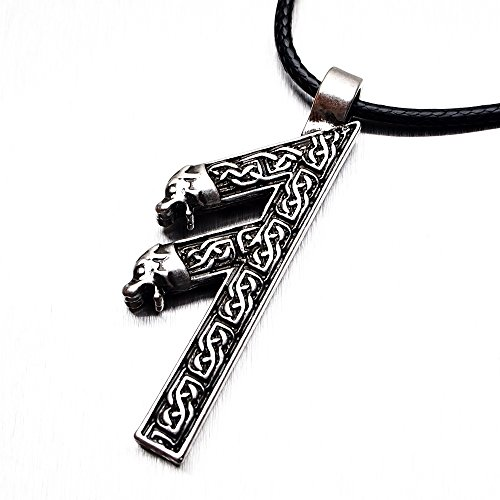 Miss – E – Jewels TM Älterer Futhark Runen-Anhänger Algiz Rune Yggdrasil Wikinger Amulett Runic Nordic handgefertigt