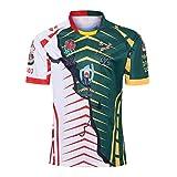 Jinjuntech 2019 Coupe du monde de rugby CHAMPION CONJOINTE VERSION Hommes Maillots Patron Imprimer manches courtes T-shirt Mode Sport Casual Top (Color : Stitching color, Size : XXXXXL)