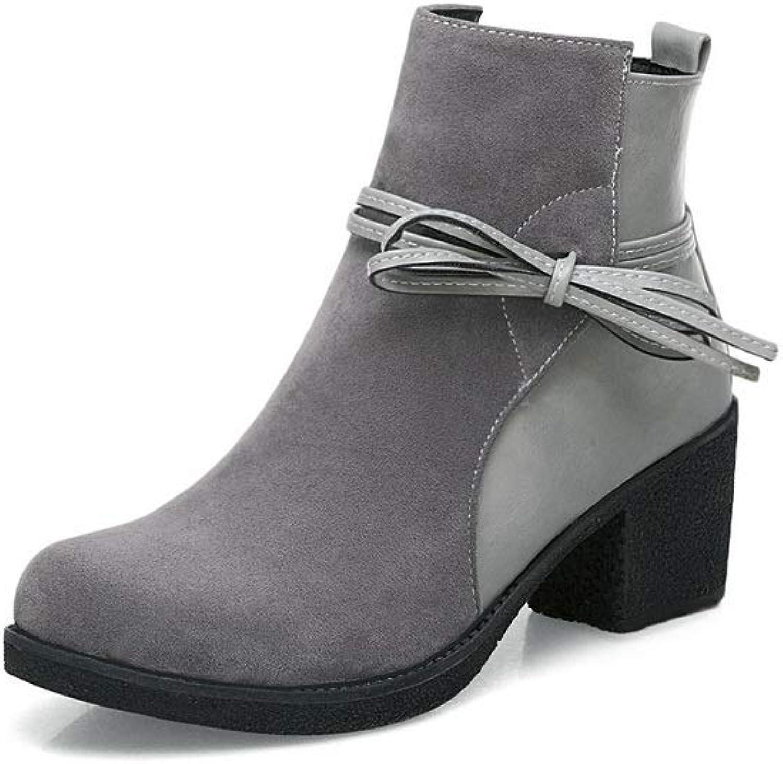 AdeeSu Womens Fringe Solid Boots Urethane Boots SXC02788