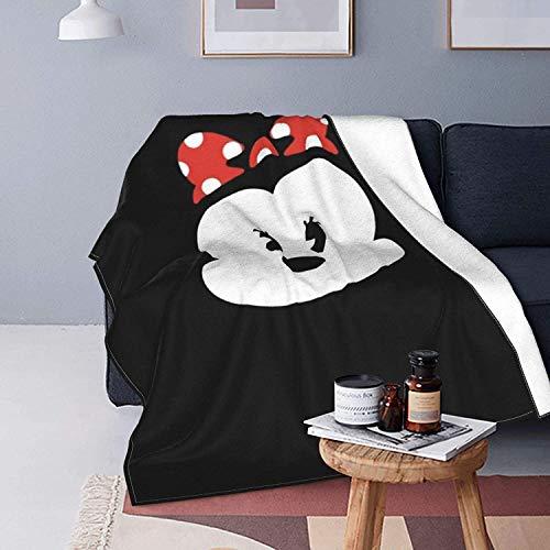 Minnie Mouse - Manta mullida de forro polar súper suave, manta de franela de microfibra para cama, sofá, adultos y niños en todas las estaciones, 125 x 150 cm