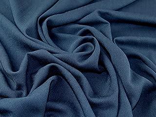 John Kaldor Coast Linen Look Suiting Dress Fabric French Navy - per metre