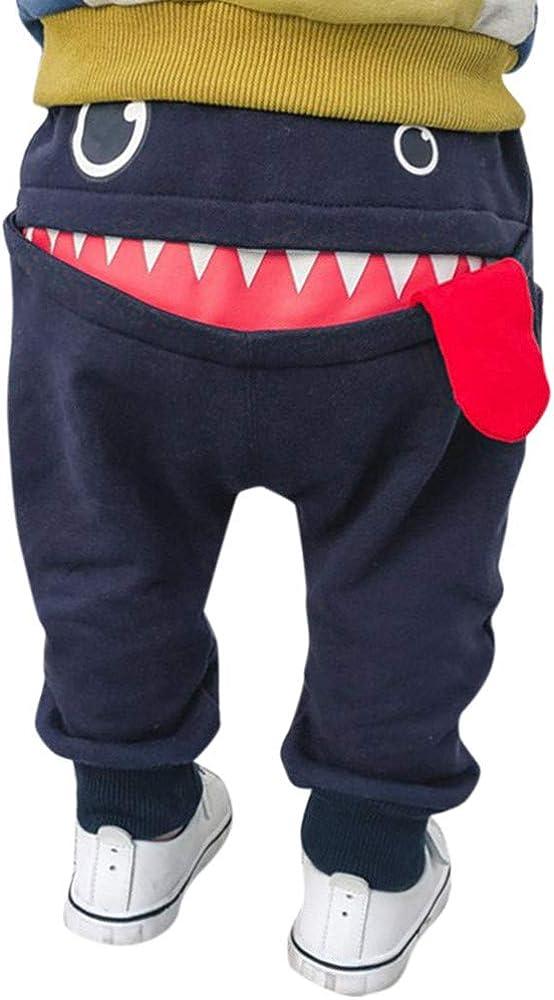 WOCACHI Toddler Baby Jogger Pants, Infant Boys Girls Cartoon Sha