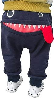 1-3T Kids Baby Boys Girls Long Pants, Warm Novelty Cartoon Tongue Sports Harem Pants Trousers Pockets